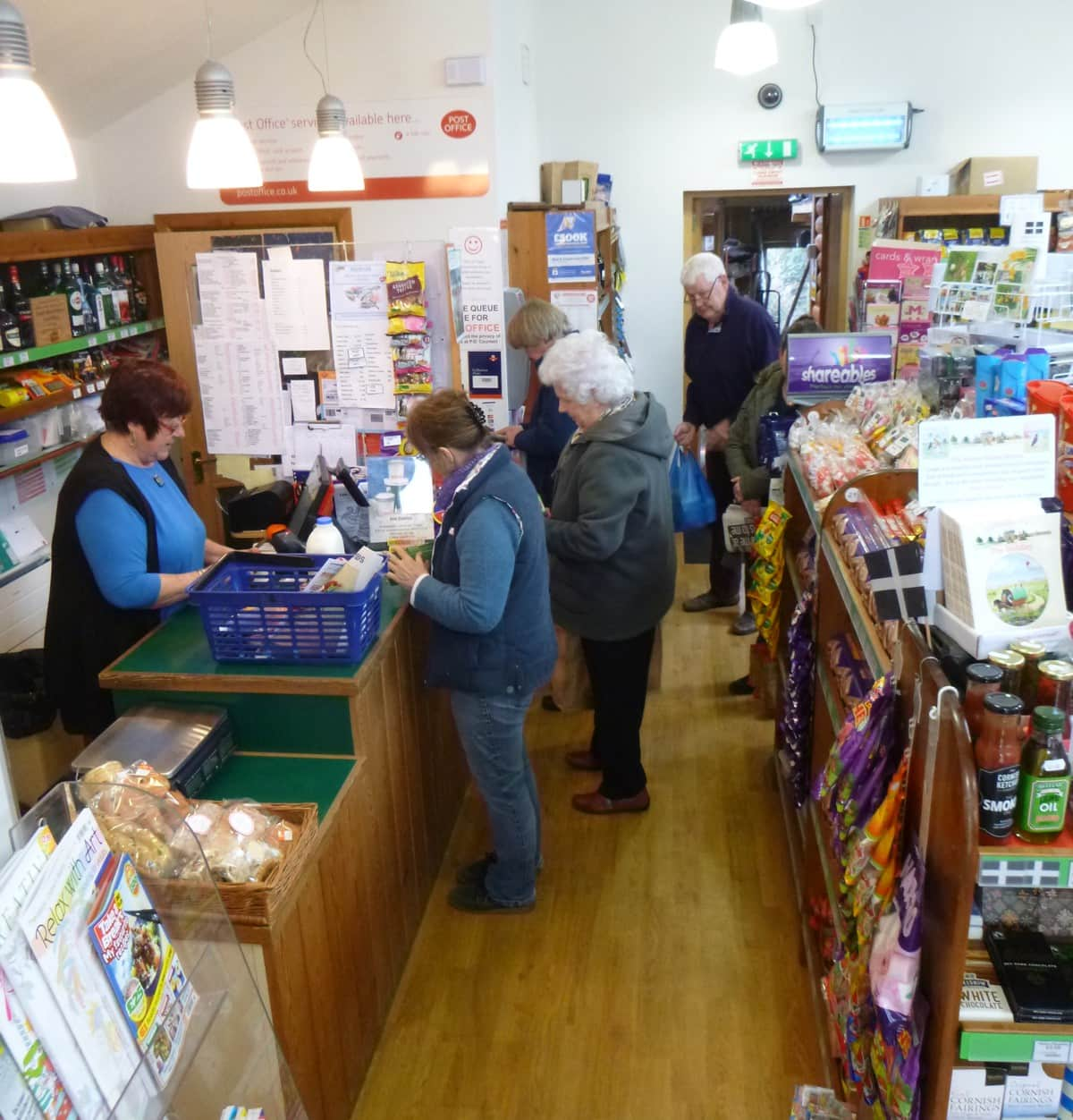 shopping at St Tudy Community Shop